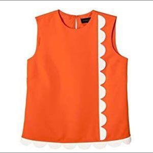 Victoria Beckham for Target Orange Scalloped Top